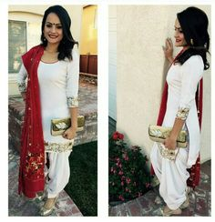 White Punjabi Suit by Naav Collection
