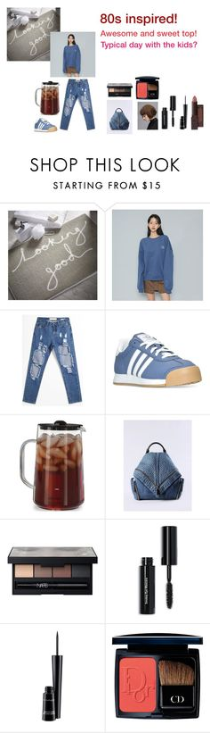 """""""For Mum (Ruth) - Mum's ideal wardrobe by me: 80s inspired!"""" by sarah-m-smith ❤ liked on Polyvore featuring adidas, Capresso, Diesel, NARS Cosmetics, Bobbi Brown Cosmetics, MAC Cosmetics, Christian Dior and Burt's Bees"""