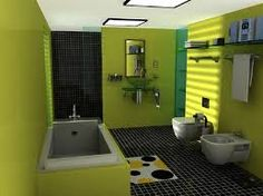 Bathroom decorating ideas for walls, over the toilet, choosing an elegant bathroom sink. Bathroom interior decoration may vary from choosing different styles to mixing different colors. Green Bathroom Paint, Small Bathroom Colors, Modern Bathroom Decor, Bathroom Interior Design, Bathroom Ideas, Small Bathrooms, Colorful Bathroom, Green Bathrooms, Bathroom Designs