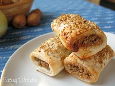 Vegan sausage rolls stack right