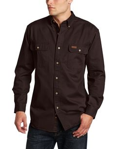 Amazon.com: Carhartt Men's Oakman Work Shirt Sandstone Twill Original Fit: Button Down Shirts: Clothing