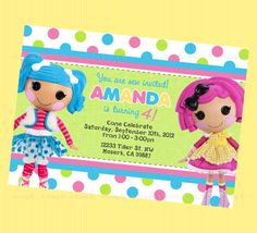 Cute & Fun Lalaloopsy Birthday Invite by BriezeesBoutique on Etsy, $12.99