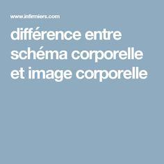 différence entre schéma corporelle et image corporelle