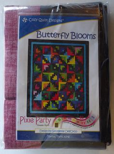"Pre-Cut Quilt Kit~RJR Butterfly Blooms 76"" x 86"""" Pattern/Fabric~Top/Binding,RJR Fabrics,K245 Fast Shipping"