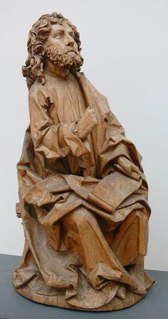 Riemenschneider Evangelisten Matthäus - Category:Münnerstädter Altar - Wikimedia Commons