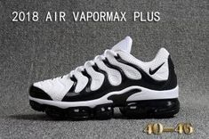 f7b9d53a6aa05 Mens Nike Air Vapormax Plus KPU TN + 2018 White Black Casual Sneakers Nike  Air Max