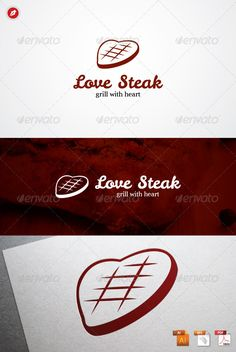 Love Steak Logo #GraphicRiver Love Steak Logo An excellent logo template related to the Food, Resaturant, Bistro, Steak, etc. Highly made for those who need Playful, Illustrative, Memorable, Editable, Simple and Versatile logo. Features : 100 % Vector (AI, EPS, PDF) Editable and Resizable CMYK color mode (for print and web purpose) Full Customizable PDF Help File Font Link Font : Hemi Head Credits : The image as shown in the image preview not include in the download file. It's just for…