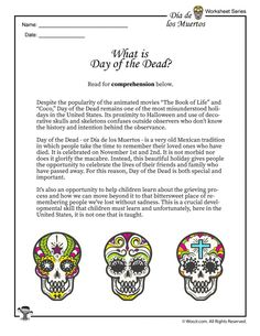 What is the Day of the Dead (Dia de los Muertos, Spanish Classroom, Teaching Spanish, Teaching Kids, Elementary Spanish, Art Classroom, Fun Learning, Worksheets, Spanish Lessons For Kids, French Lessons