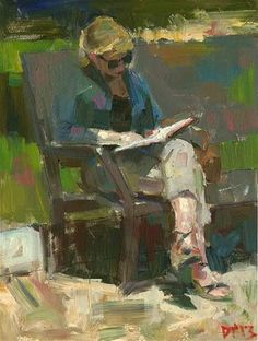 ✉ Biblio Beauties ✉ paintings of women reading letters and books - Darren Thompson | Reader No. 68