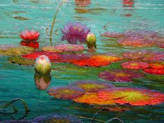Art — Jean Jacques Bachelier, White angora cat chasing a. Lotus Painting, Oil Painting Abstract, Abstract Canvas, Painting Art, Victor Nizovtsev, Mermaid Art, Painting Inspiration, Fantasy Art, Art Photography