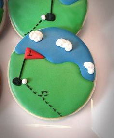 Golf cookies Decorated sugar cookies one dozen by CopCakes50