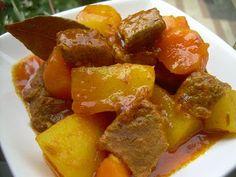 ternera guisada con patatas y zanahorias