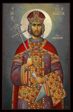 St Constantine the Great Emperor Constantine St Constantine, Constantine The Great, Byzantine Icons, Byzantine Art, Religious Paintings, Religious Art, Art Carved, Orthodox Icons, Christian Art