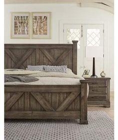 26 Rustic Bedroom Design and Decor Ideas for a Cozy and Comfy Space - The Trending House Rustic Bedroom Furniture, Rustic Bedding, Home Furniture, Bedroom Decor, Diy Rustic Headboard, Rustic Wood Bed Frame, Farmhouse Bed Frames, Farmhouse Headboards, Furniture Ideas