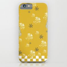 Winter Angels in Gold iPhone & iPod Case