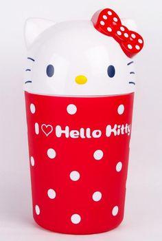 Hello Kitty wastebasket: keepin' it tidy