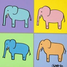 "Saatchi Art Artist brian nash; Painting, ""Elephants"" #art"