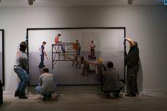 """Bana Bak!"" sergisi kurulumu | ""Look At Me!"" exhibition installation"