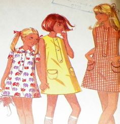 Dress Sewing Pattern For Summer Girls Tent by hookandneedlepattern, $8.00