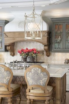 Modern french country kitchen decorating ideas (30)