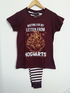 Primark Harry Potter Letter From Hogwarts PJ Pyjama Set Sizes 6-20