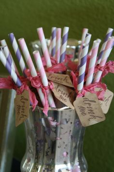 CARNIVAL STRAWS  Drink Me . For a carnival wedding or circus wedding :)
