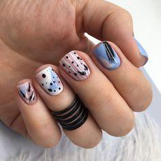 Square Nail Designs, Short Nail Designs, Nail Art Designs, Nails Design, Short Square Nails, Short Nails, Perfect Nails, Gorgeous Nails, Stylish Nails