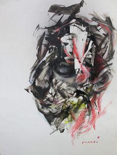 "Saatchi Art Artist Masri Hayssam; Painting, ""Maledizione#7- New expression series"" #art"