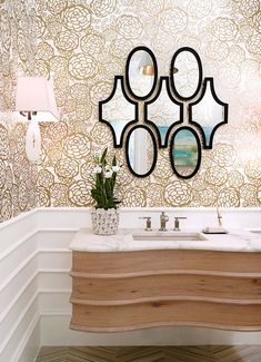 When your bathroom is short on space, the right bathroom vanity can help you add bathroom storage within your limited square footage. These small-bathroom vanity ideas offer a big statement without overtaking the room. #bathroomvanity #smallbathroomstorage #smallbathroomideas #remodel #bhg