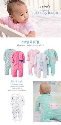 f31d26fe1a Love these little baby basics for your little girl. Perfect for playtime