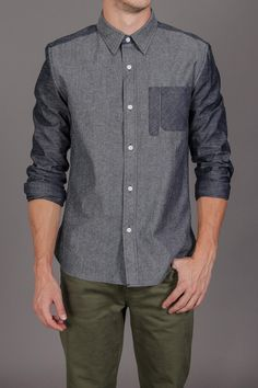 Goodale Tailored Chambray Button Down Shirt