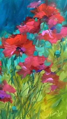 Poppy Chorus, detail, by Nancy Medina