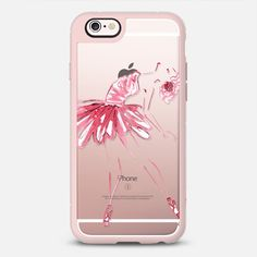Pink Ballerina - New Standard Case in Pink Gray & Clear by @thexostudio | @casetify
