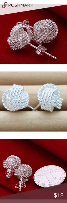 Selling this Solid Silver Jewelry Mesh Ball Studs. on Poshmark! My username is: mychelleg123. #shopmycloset #poshmark #fashion #shopping #style #forsale #Unbranded #Jewelry