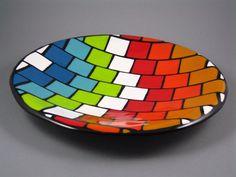 Custom Geometric Fused Glass Pieces by Art Glass Creations | CustomMade.com