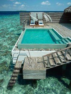 Dusit Thani Maldives: Ocean Villa Deck #budgetfriendly (for maldives)