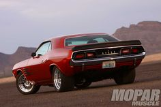 1972 Dodge Challenger   1972 Dodge Challenger Rear View