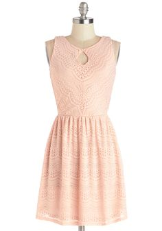 Save the Best for Lace Dress. Time after time, you truly feel your best when donning this pink dress! #pink #modcloth