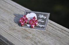 Rose Emblem Earrings in Rose by Tiffany Rose Designs