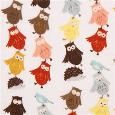 Nesshome x Kokka owl gauze fabric Animal Runway Japan