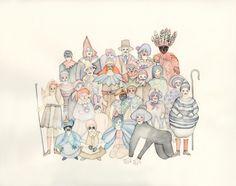 Tara Marynowsky Same Love, Big Hair, Watercolor Illustration, Pastel, Christmas Ornaments, Create, Holiday Decor, Prints, Artwork