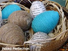 Posed Perfection: Twine Wrapped Easter Eggs