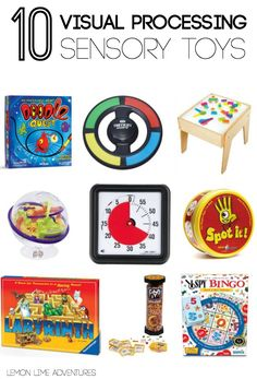 Visual Processing Sensory Toys  Sensory gifts for kids | Part of an awesome gift guide covering multiple sensory systems. I never would have thought of these!