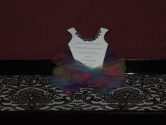 Rainbow TUTU Invitation