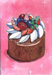 Original ACEO - Cake by kana_hata, via Flickr