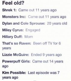 Wow! I am super old I used to watch those shows and know those people when I was like 5 years old