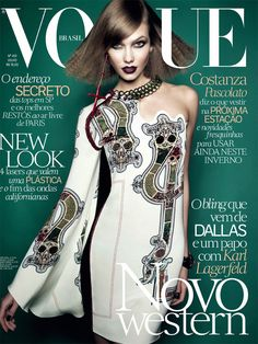 Karlie Kloss by Henrique Gendre Vogue Brazil July 2014 Vogue Brazil, Vogue  Covers, Vogue d23b03cda3