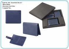 S R Brothers offer Essentials set of 3 - *Mens Wallet *Business Card Case *Luggage Tag Email us for your corporate gift requirements at info@srbrothers.com & Visit our website www.srbrothers.com #quality👌 #srbrothers #corporategifts #wallet #cardcase #luggagetag #creditcardwallet #purse #giftset