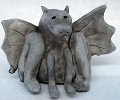 Clay GARGOYLES and GROTESQUES Sculpture Lesson Plan: Sculpture Activities and Lessons for Children and Kids: KinderArt ®