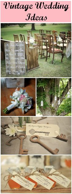 Ideas for a vintage style wedding